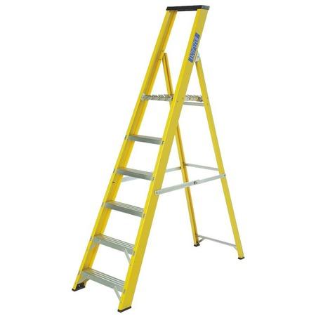 Lyte trade fibreglass platform step ladders