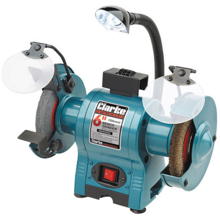 Excellent Clarke Heavy Duty 6 Inch Bench Grinder With Lamp Wire Gmtry Best Dining Table And Chair Ideas Images Gmtryco